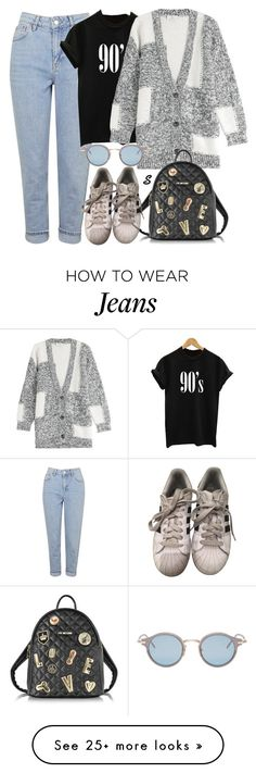"""""""Без названия #969"""" by sabina-127 on Polyvore featuring Topshop, Closed, Love Moschino, adidas and Thom Browne"""