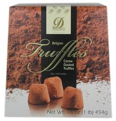 Donchels Cocoa Dusted Belgian Chocolate Truffles - 1 LB Box $22.70