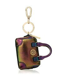 I'm not a logo fan, but this is a pretty cute key fob! Tory Burch ROBINSON OLOGRAM MIDDY SATCHEL KEY FOB