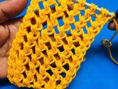Loom Knitting Stitches, Knitting Paterns, Knitting Videos, Lace Knitting, Knit Crochet, Crochet Patterns, Diy Crafts Knitting, Needlepoint Designs, Flower Crafts