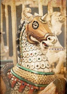 carousel horse..armored horse by ladybutterfly