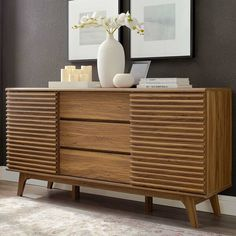 "George Oliver Wigington 63"" Wide 3 Drawer Sideboard & Reviews 
