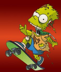 Skateboarding Zombie The Simpsons Wallpapers Resolution : Filesize : kB, Added on August Tagged : skateboarding Simpsons Tattoo, Simpsons Drawings, Simpsons Art, Zombie Cartoon, Zombie Art, Cartoon Art, Simpsons Halloween, Desenho New School, Arte Grunge