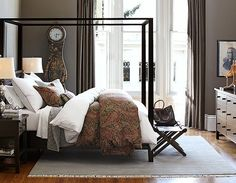 A Farmhouse Style Bedroom Canopy Beds Bedrooms Bed