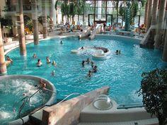 Main indoor thermal pool at Carolus Thermen