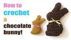miniature crochet bunny - YouTube