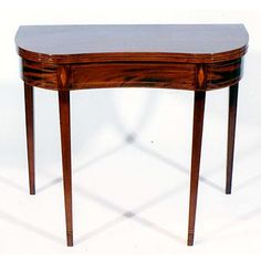 An American Federal Mahogany Card Table, Middle-Atlantic States, circa 1790-1800 SOLD | Chicora Antiques