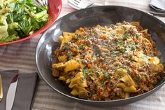 Fresh+Pappardelle+Bolognese++with+Romaine,+Celery+&+Apple+Salad.+Visit+https://www.blueapron.com/+to+receive+the+ingredients.