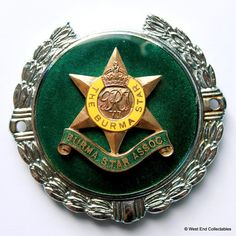 Vintage 1960s Military Car Badge - The Burma Star Association - Grille Mascot | eBay