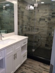 Old Wood Porcelain Tile throughout the. Whole pool guest bathroom, people loved it