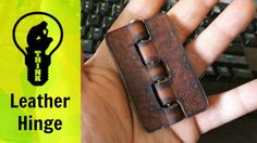Making a leather hinge