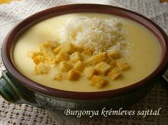 Burgonya krémleves sajttal