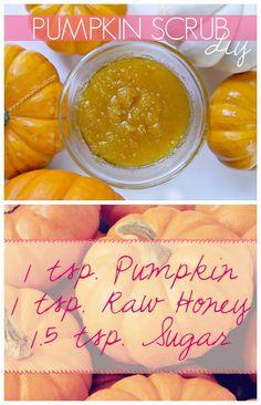 DIY Sugar Pumpkin Scrub-Super quick and easy to make and made my skin so incredibly soft!