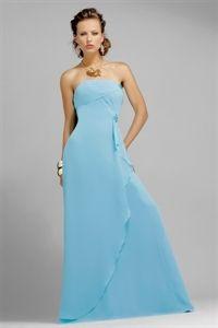 Blue Bridesmaid Dresses, Long Chiffon Bridesmaid Dresses, Prom Dresses $118.00