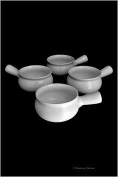 Set-4-Oven-Crock-White-Porcelain-French-Onion-Soup-14oz-414ml-Dishes-Bowls