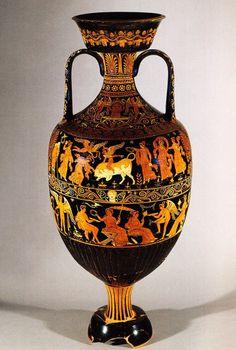 Anfora apula, IV a.C. Museo Archeologico Nazionale, Napoli. Provenienza Canosa di Puglia. Cultura greca e magno-greca