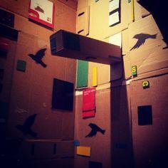 Cardboard exhib divider