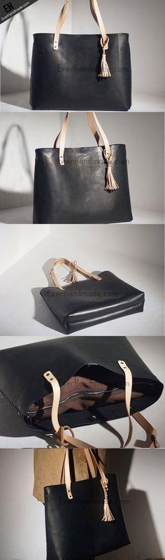 Handmade Leather handbag tote purse shoulder bag for shopper