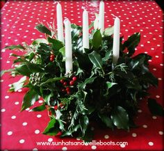 Instructions for Homemade Natural Advent Wreath - kids can participate
