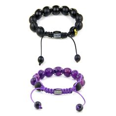 Worn as a protection stone, these onyx bracelets keep whoever wears them safe.
