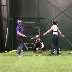 Great drill here for catchers that helps them stay. Great drill here for catchers that helps them stay with the pitch through a swing/bunt! Softball Pitching Drills, Softball Workouts, Softball Memes, Softball Cheers, Softball Coach, Softball Players, Girls Softball, Fastpitch Softball, Softball Hair