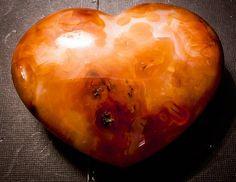 Large Polished Carnelian Heart 3.7