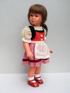 ANTIKE-KATHE-KRUSE-MADCHEN-PUPPE-MODELL-KATHE-KKRUSE-UM-1950-40-cm-TOP