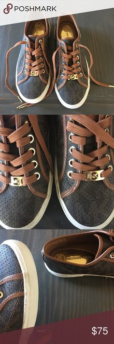 Men's Michael Kors size 7 1/2 Boerum Sneakers Great Condition, couple of scuffs that can be easily cleaned off, shoelaces look fantastic. Awesome style. Michael Kors Shoes Sneakers
