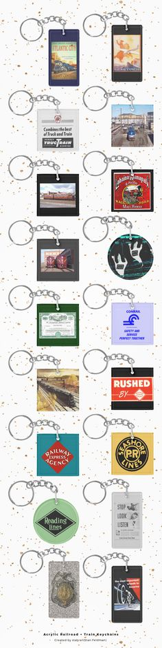 """Acrylic Railroad Keychain Collection; Never leave home without your favorite railroad or train photo, design, or inspirational message attached to your keys with this custom keychain from Zazzle. Designed to withstand daily wear and tear, this keychain displays designs, text, and photos in vibrant clarity and brilliant colors. Attach to your keys for a great railroad gift.Dimensions:1.5"""" x 2.75"""".Made of ultra-durable acrylic.UV resistant and waterproof... www.railphotoexpress.biz"""