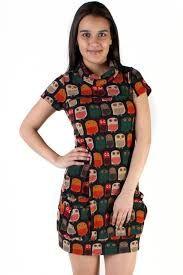 owl pattern dress - Google-haku Owl Patterns, Dress Patterns, Pattern Dress, High Neck Dress, Clothes For Women, Hunting, Bag, Google, Dresses