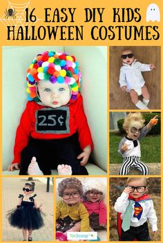 Ideas Diy Easy Halloween Costumes For Toddlers Unique Toddler Halloween Costumes, Halloween Bebes, Diy Baby Costumes, Easy Diy Costumes, Homemade Toddler Costumes, Costume Ideas, Homemade Halloween, Halloween Crafts, Halloween Infantil