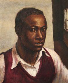 Self-Portrait John Wilson, 1943 Famous Self Portraits, Self Portrait Artists, Portrait Ideas, African American Artist, American Artists, Selfies, Harlem Renaissance Artists, John Wilson, Globe Art
