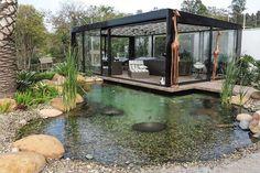 Piscina Natural 01 Piscinas Crochetfornovices com is part of Natural pool - Backyard Water Feature, Ponds Backyard, Backyard Landscaping, Landscaping Ideas, Koi Ponds, Natural Swimming Ponds, Natural Pond, Pond Design, Garden Design
