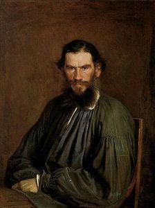 Leo Tolstoj (9 september 1828 – 20 november 1910) Portret door Ivan Kramskoy, 1873
