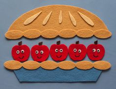 Five Apples in a Basket FELT BOARD RHYME Numeracy 5 Apple Pie Tree Flannel