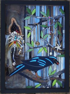 """Tale of the Two Crows"" by Susan Turlington Mosaics, via Flickr"