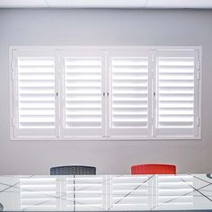 a complete DIY and made to measure window décor solution Aluminium Shutters, American Shutters, Stacking Doors, Security Shutters, Roller Shutters, Medium Lengths, Sliding Doors, Interior And Exterior, Blinds