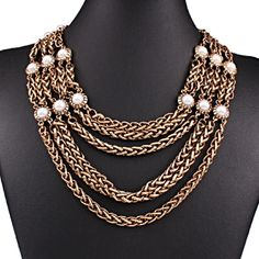 Four Layered Pearl Statement Necklace Beautiful and new! Jewelry Necklaces