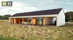 Rodinný bungalov se sedlovou střechou