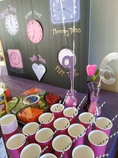 Around the Clock Baby Shower for a Girl