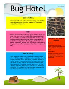Bug Hotel. Forest School. Everything you need to create your own bug hotel This…