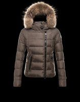 Cheap Moncler Bryone Down Jacket For Women Dark Green Outlet Online UK With Discounts Sale.