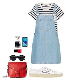 Street style by dalma-m on Polyvore featuring polyvore fashion style Yves Saint Laurent Rebecca Minkoff Givenchy Chanel Samsung clothing