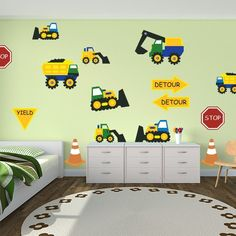Construction Cone Zone Restickable Room Theme | ... | Baby/Kids Decor