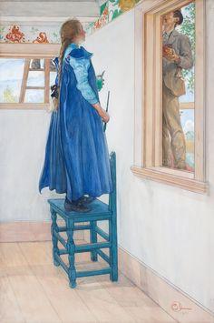 """CARL LARSSON, """"SUZANNE OCH EN ANN' """", 1901"""