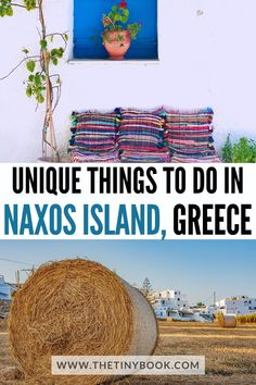 Naxos is a fantastic Aegean island, big enough to spend an unforgettable holiday without any risk of getting bored. There are so many different things to do in Naxos that no matter how long you'll stay, days will never seem to be enough. Road Trip Europe, Europe Travel Guide, Travel Abroad, Travel Destinations, European Vacation, European Travel, Travel Ideas, Travel Inspiration, Southern Europe