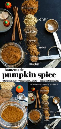 Learn how to make Homemade Pumpkin Spice with 6 simple ingredients you most likely have in your kitchen pantry. It's so easy to make at home in less than 5 minutes! Perfect for fall baking using a few common ingredients from your spice cabinet so you can save money and a trip to the store! Use it for pumpkin spice lattes, pumpkin muffins, pumpkin bread, pumpkin cookies & pumpkin pie! No fillers & it's naturally healthier, low carb, keto, Whole30, paleo, vegan & gluten free! #pumpkinspice #