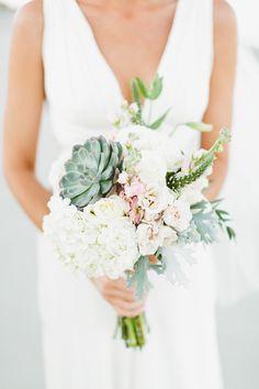 Sweet succulents | Photography: Kaytee Lauren  - www.kayteelauren.com  Read More: http://www.stylemepretty.com/2015/04/20/fall-beach-wedding/