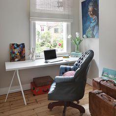 Wohnideen Büro Und Gästezimmer wohnideen arbeitszimmer home office büro moderne blaue home office
