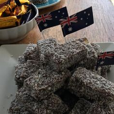 It's lamingtons!! Patriotic day at our house today.. Happy Australia Day #poolparty#celebrations#luckycountry #australia#goodonyamate#shellberight  #aussieaussieaussieoioioi  #vegimite#donbradman #mcg #greatbarrierreef #sydneyoperahouse  #meatpies#kangaroos#koalabear#bbq  Suppose I could go on for ever by waynelevyprmg http://ift.tt/1UokkV2